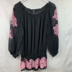 INC Silk peplum Blouse size 14